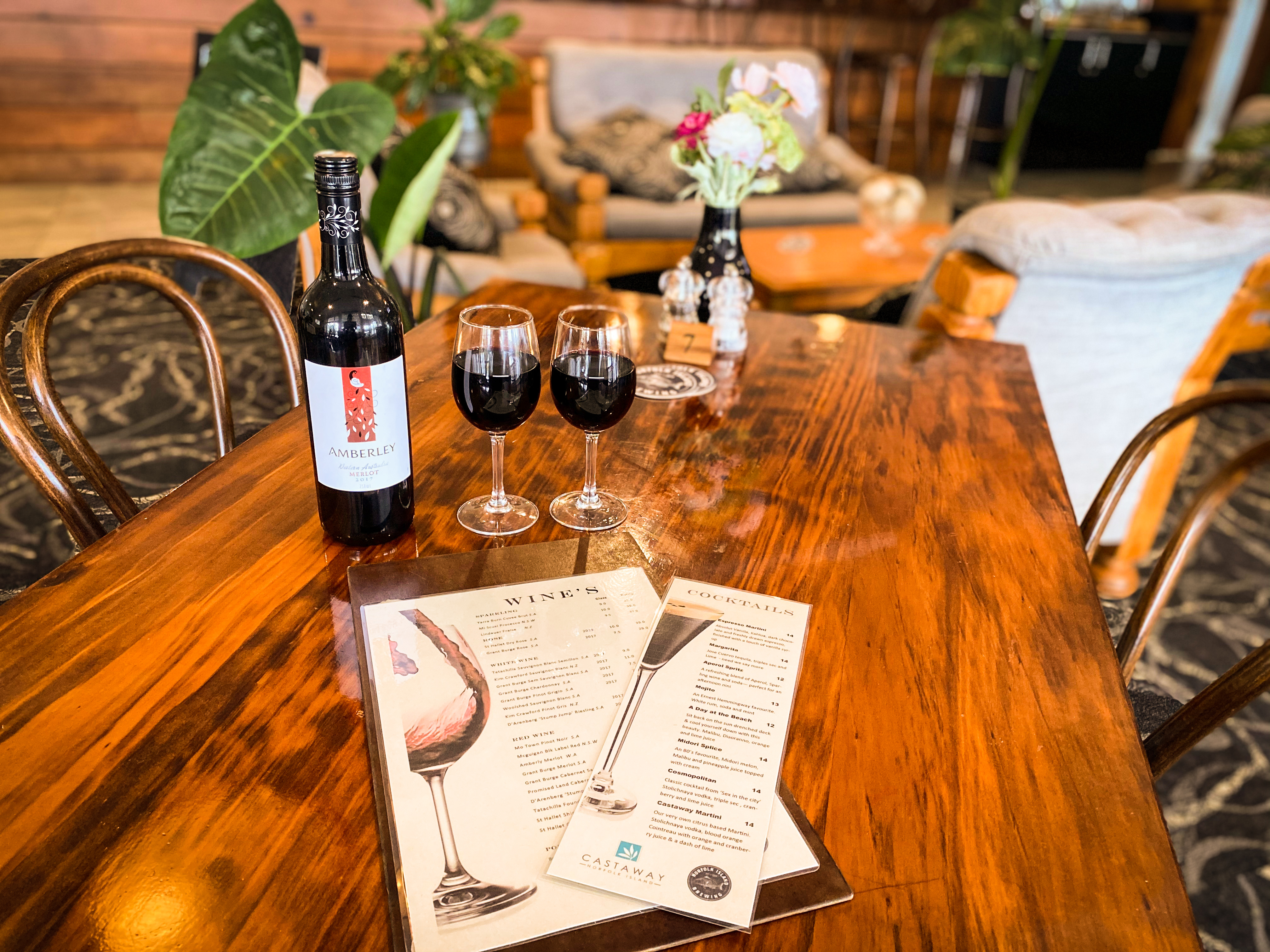 Wine and menus
